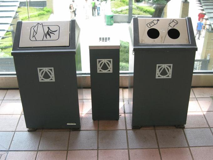 recycle-bins-office-work-green-clean